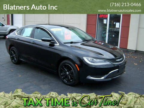 2015 Chrysler 200 for sale at Blatners Auto Inc in North Tonawanda NY