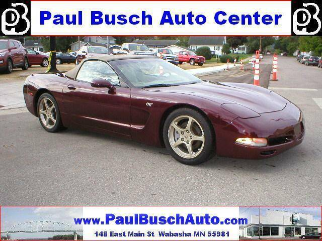 2003 Chevrolet Corvette for sale at Paul Busch Auto Center Inc in Wabasha MN