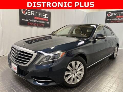 2015 Mercedes-Benz S-Class for sale at CERTIFIED AUTOPLEX INC in Dallas TX