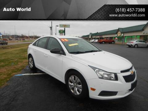 2014 Chevrolet Cruze for sale at Auto World in Carbondale IL