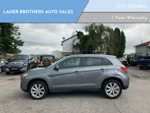 2013 Mitsubishi Outlander Sport for sale at LAUER BROTHERS AUTO SALES in Dover PA