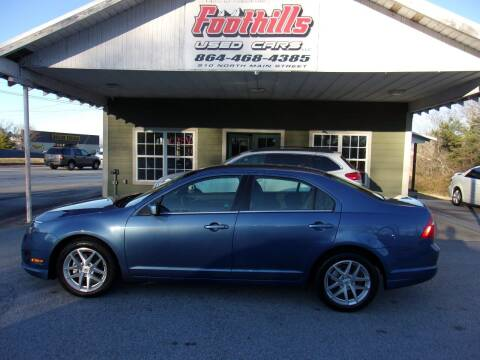 2010 Ford Fusion for sale at Foothills Used Cars LLC in Campobello SC