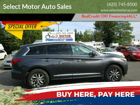 2013 Infiniti JX35 for sale at Select Motor Auto Sales in Lynnwood WA