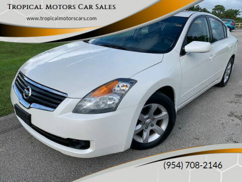 2009 Nissan Altima for sale at Tropical Motors Car Sales in Deerfield Beach FL