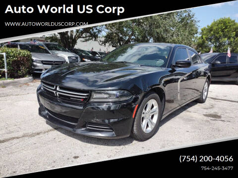 2015 Dodge Charger for sale at Auto World US Corp in Plantation FL