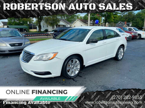 2012 Chrysler 200 for sale at ROBERTSON AUTO SALES in Bowling Green KY