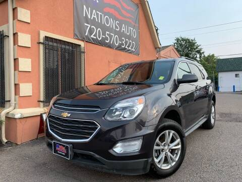 2016 Chevrolet Equinox for sale at Nations Auto Inc. II in Denver CO