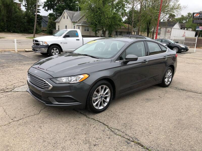 2017 Ford Fusion for sale at Bibian Brothers Auto Sales & Service in Joliet IL