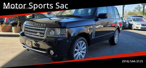 2010 Land Rover Range Rover for sale at Motor Sports Sac in Sacramento CA
