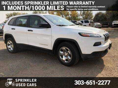 2016 Jeep Cherokee for sale at Sprinkler Used Cars in Longmont CO