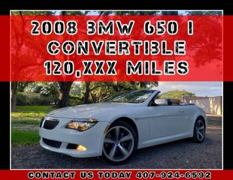 2008 BMW 6 Series for sale at AFFORDABLE ONE LLC in Orlando FL
