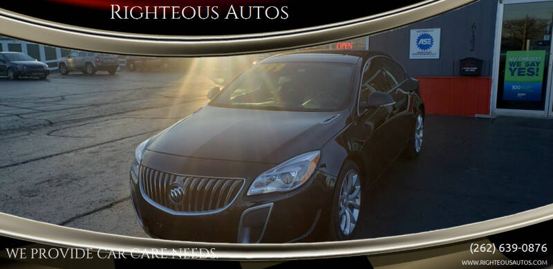 2014 Buick Regal for sale at Righteous Autos in Racine WI