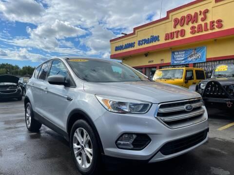 2017 Ford Escape for sale at Popas Auto Sales in Detroit MI