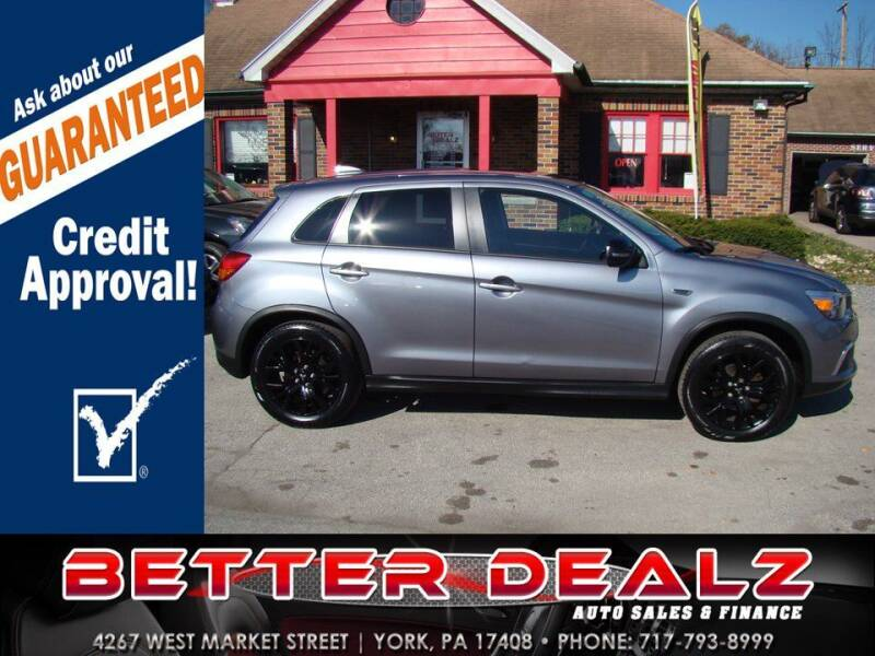2017 Mitsubishi Outlander Sport for sale at Better Dealz Auto Sales & Finance in York PA