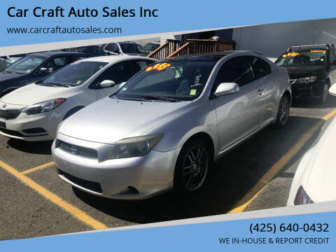 2007 Scion tC for sale at Car Craft Auto Sales Inc in Lynnwood WA