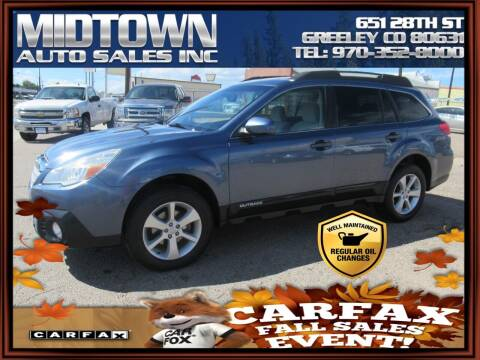 2013 Subaru Outback for sale at MIDTOWN AUTO SALES INC in Greeley CO