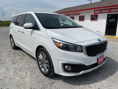 2015 Kia Sedona for sale at Sarpy County Motors in Springfield NE