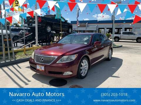 2007 Lexus LS 460 for sale at Navarro Auto Motors in Hialeah FL