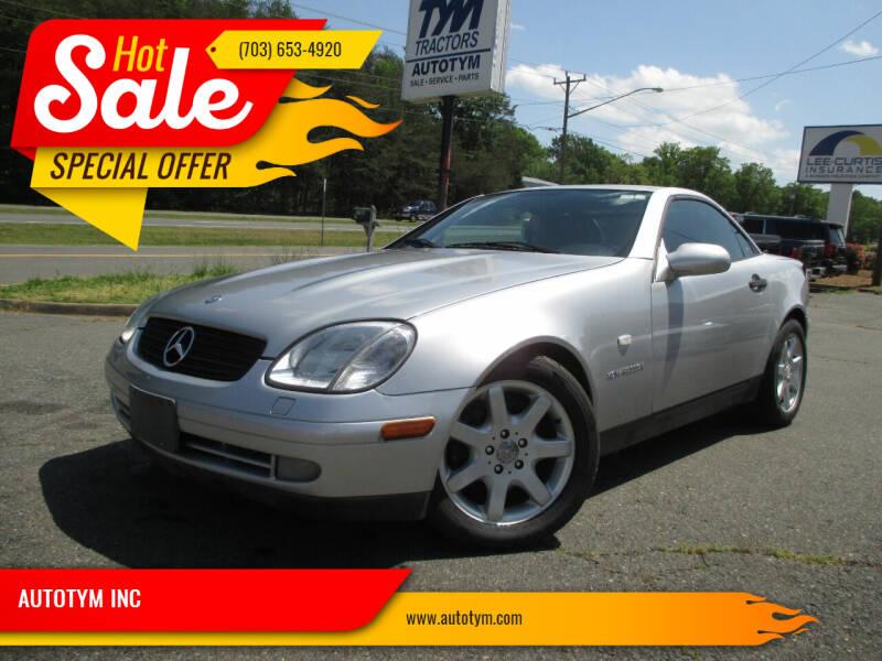 2000 Mercedes-Benz SLK for sale at AUTOTYM INC in Fredericksburg VA