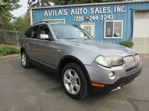 2007 BMW X3 for sale at Avilas Auto Sales Inc in Burien WA