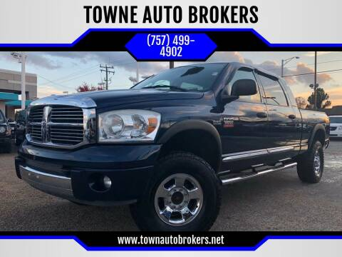 2007 Dodge Ram Pickup 2500 for sale at TOWNE AUTO BROKERS in Virginia Beach VA