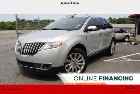 2013 Lincoln MKX for sale at Lakepoint Autos in Cartersville GA
