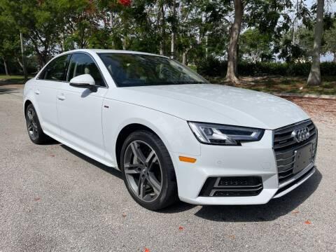 2018 Audi A4 for sale at DELRAY AUTO MALL in Delray Beach FL
