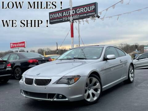 2007 BMW 6 Series for sale at Divan Auto Group in Feasterville Trevose PA