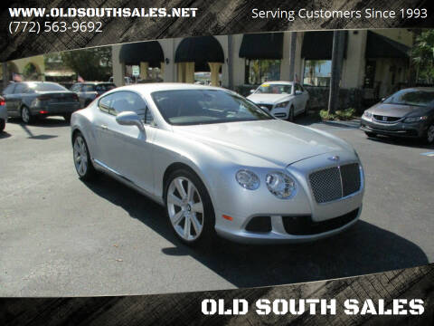 2012 Bentley Continental for sale at OLD SOUTH SALES in Vero Beach FL