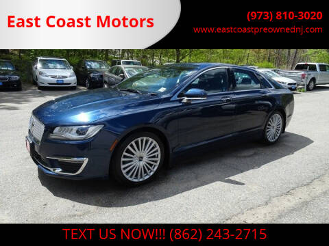 2017 Lincoln MKZ for sale at East Coast Motors in Lake Hopatcong NJ