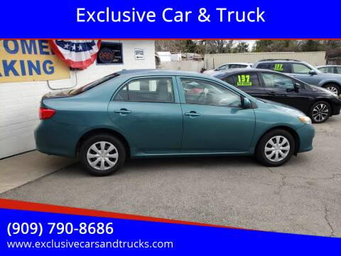 2009 Toyota Corolla for sale at Exclusive Car & Truck in Yucaipa CA