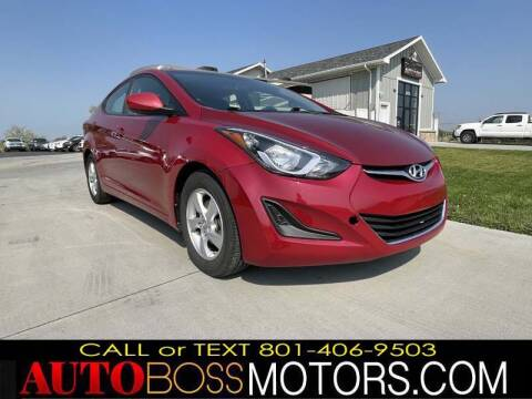 2014 Hyundai Elantra for sale at Auto Boss in Woods Cross UT