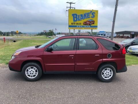 2005 Pontiac Aztek for sale at Blake's Auto Sales in Rice Lake WI