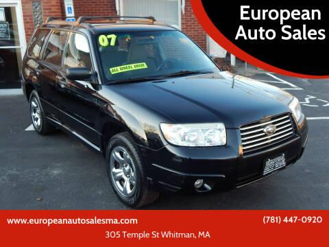 2007 Subaru Forester for sale at European Auto Sales in Whitman MA