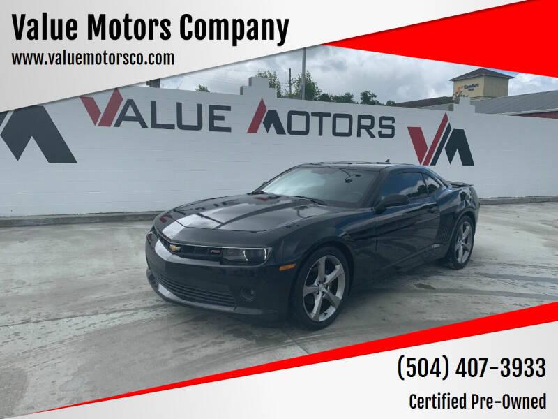 2014 Chevrolet Camaro for sale at Value Motors Company in Marrero LA