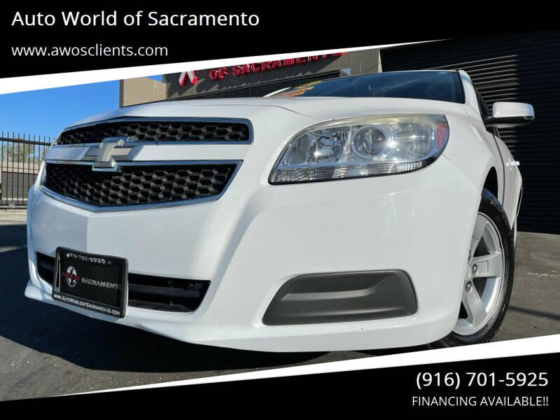 2013 Chevrolet Malibu for sale at Auto World of Sacramento Stockton Blvd in Sacramento CA