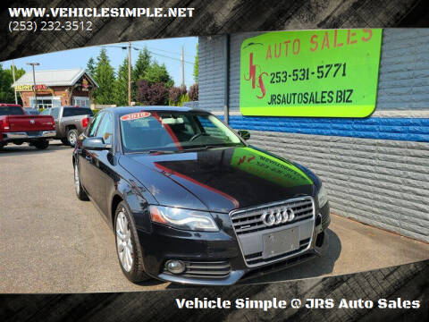 2010 Audi A4 for sale at Vehicle Simple @ JRS Auto Sales in Parkland WA
