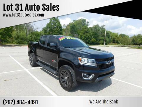 2016 Chevrolet Colorado for sale at Lot 31 Auto Sales in Kenosha WI