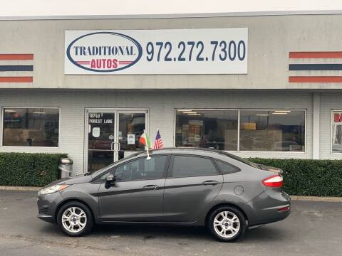 2015 Ford Fiesta for sale at Traditional Autos in Dallas TX