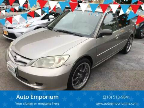 2005 Honda Civic for sale at Auto Emporium in Wilmington CA