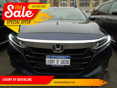 2018 Honda Accord for sale at LUXURY OF QUEENS,INC in Long Island City NY