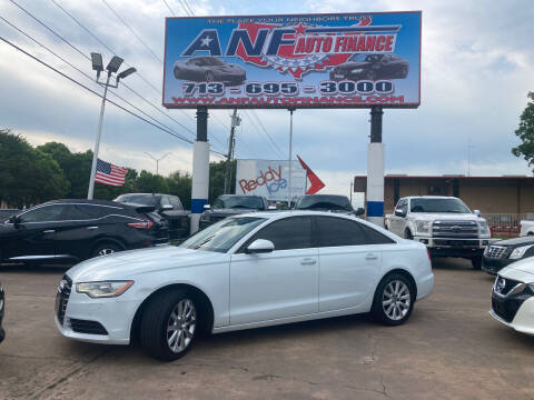 2014 Audi A6 for sale at ANF AUTO FINANCE in Houston TX