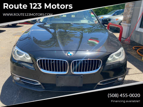 2014 BMW 5 Series for sale at Route 123 Motors in Norton MA