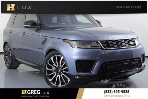 2018 Land Rover Range Rover Sport for sale at HGREG LUX EXCLUSIVE MOTORCARS in Pompano Beach FL
