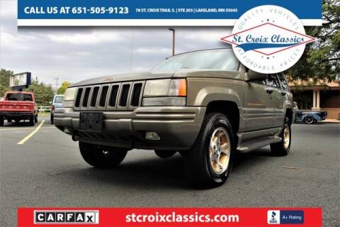 1998 Jeep Grand Cherokee for sale at St. Croix Classics in Lakeland MN
