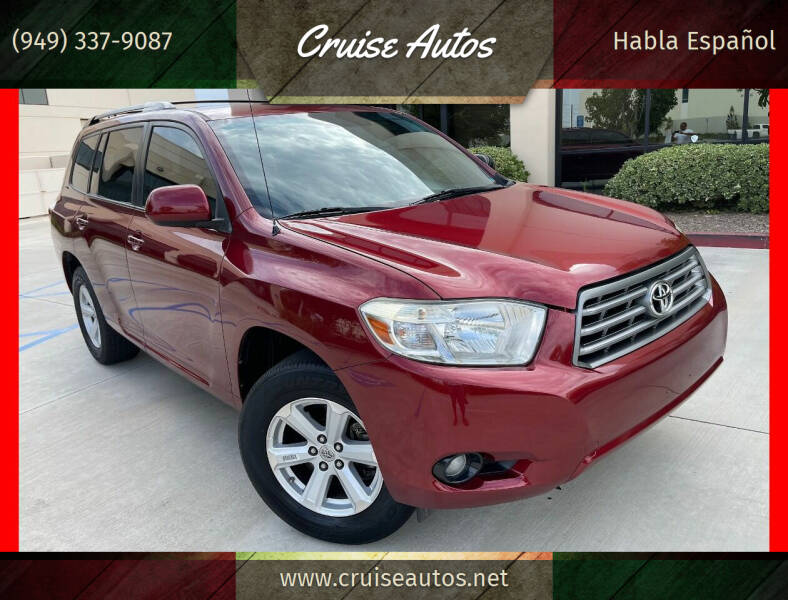 2010 Toyota Highlander for sale at Cruise Autos in Corona CA