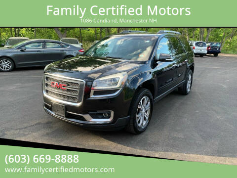 2013 GMC Acadia for sale at Family Certified Motors in Manchester NH