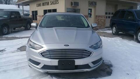 2017 Ford Fusion for sale at Long Motor Sales in Tecumseh MI