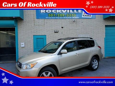 2008 Toyota RAV4 for sale at Cars Of Rockville in Rockville MD