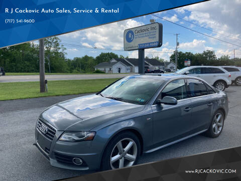 2012 Audi A4 for sale at R J Cackovic Auto Sales, Service & Rental in Harrisburg PA